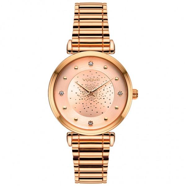 VOGUE Bind 610252 Crystals Rose Gold Stainless Steel Bracelet