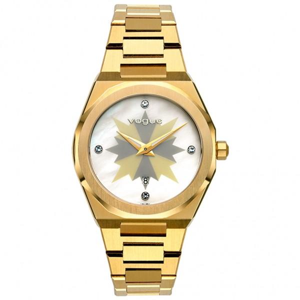 VOGUE Tornado L 813042 Crystals Gold Stainless Steel Bracelet
