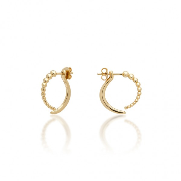JCOU The Dots Earring Silver 925° Gold Plated 14K JW900G4-04