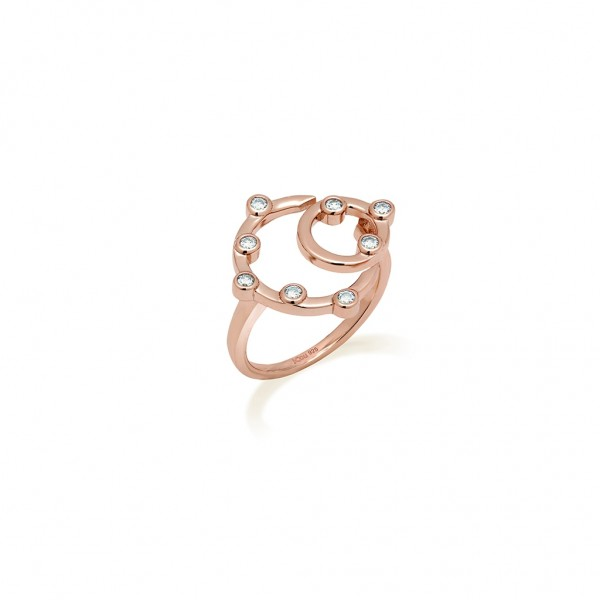 JCOU Round Minimal Ring Silver 925° Rose Gold Plated JW906R0-01