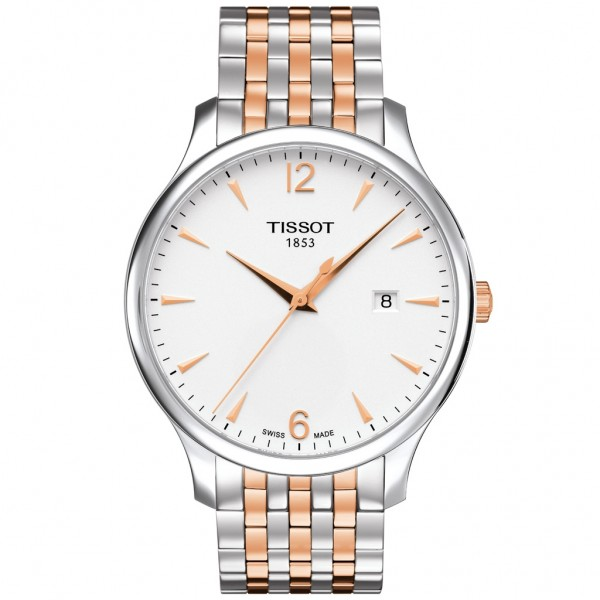 TISSOT T-Classic Tradition Two Tone Stainless Steel Bracelet T0636102203701