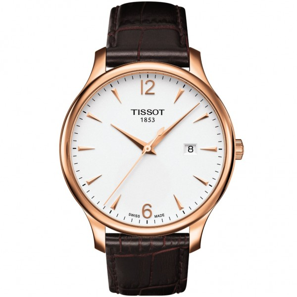 TISSOT T-Classic Tradition Brown Leather Strap T0636103603700