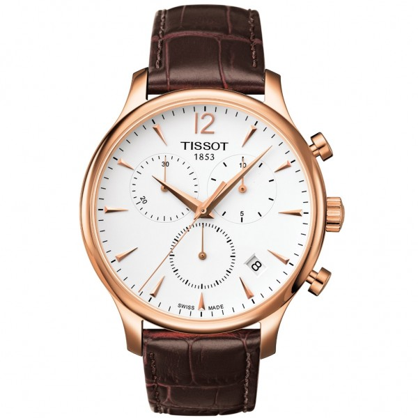 TISSOT T-Classic Tradition Chrono Brown Leather Strap T0636173603700