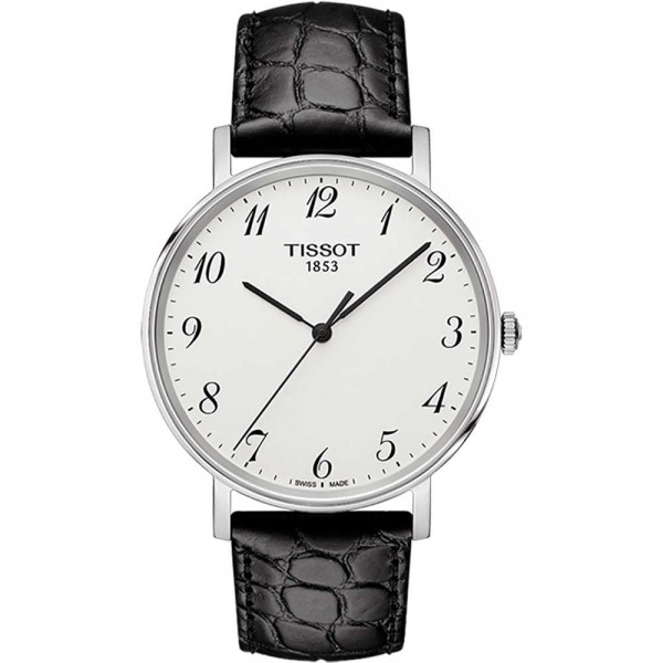 TISSOT T-Classic Everytime Black Leather Strap T1094101603200
