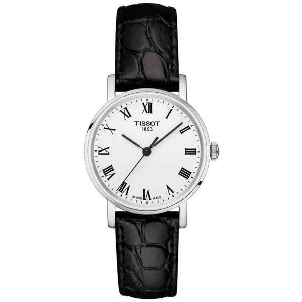 TISSOT T-Classic Everytime Lady Black Leather Strap T1092101603300