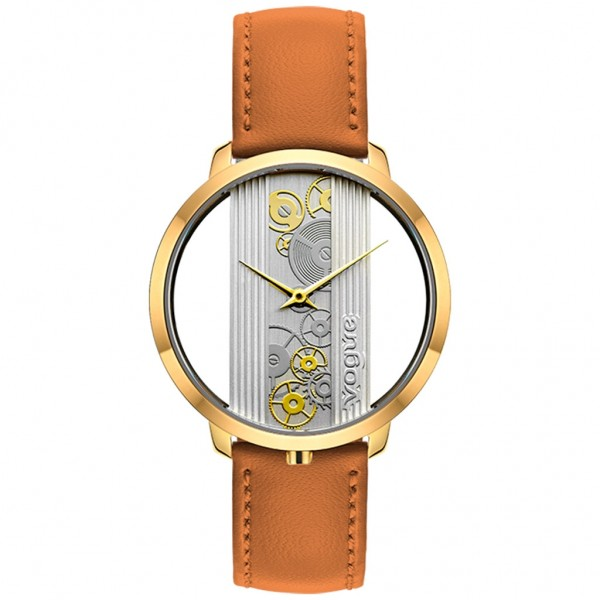 VOGUE Telescopic 610142 Brown Leather Strap