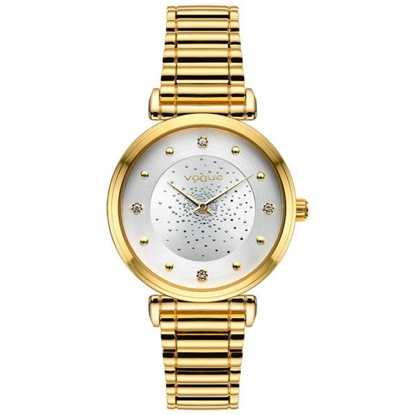 VOGUE Bind 610241 Crystals Gold Stainless Steel Bracelet