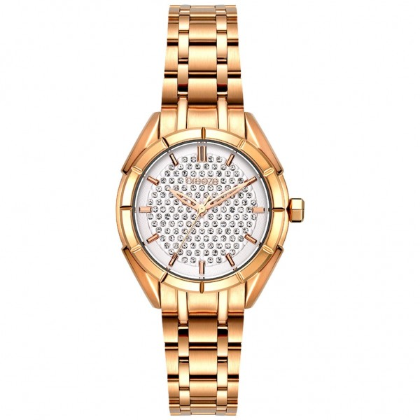 BREEZE Gemstonia 212181.1 Crystals Rose Gold Stainless Steel Bracelet