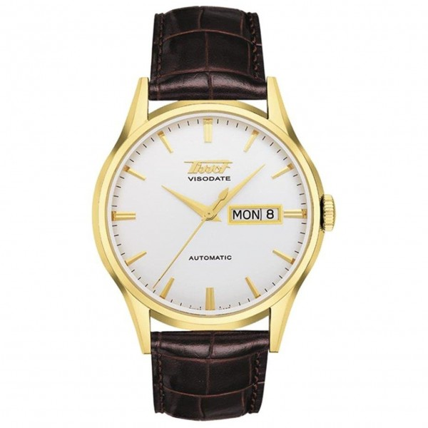 TISSOT Heritage Visodate Automatic Brown Leather Strap T0194303603101