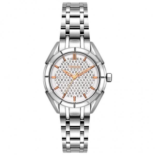 BREEZE Gemstonia 612181.1 Crystals Silver Stainless Steel Bracelet