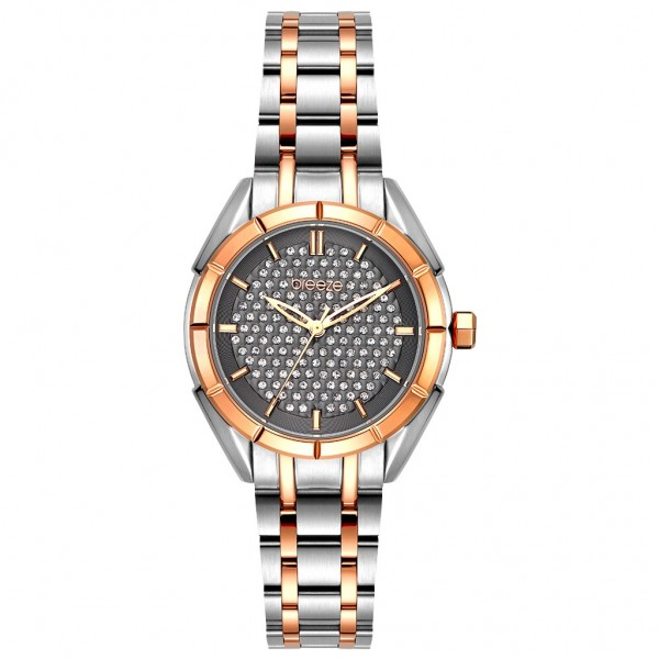 BREEZE Gemstonia 712181.6 Crystals Two Tone Stainless Steel Bracelet
