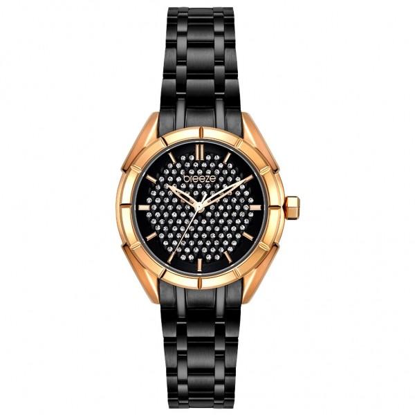 BREEZE Gemstonia 812181.2 Crystals Black Stainless Steel Bracelet