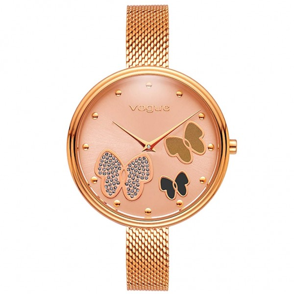 VOGUE Pappillons II 812452 Crystals Rose Gold Stainless Steel Bracelet