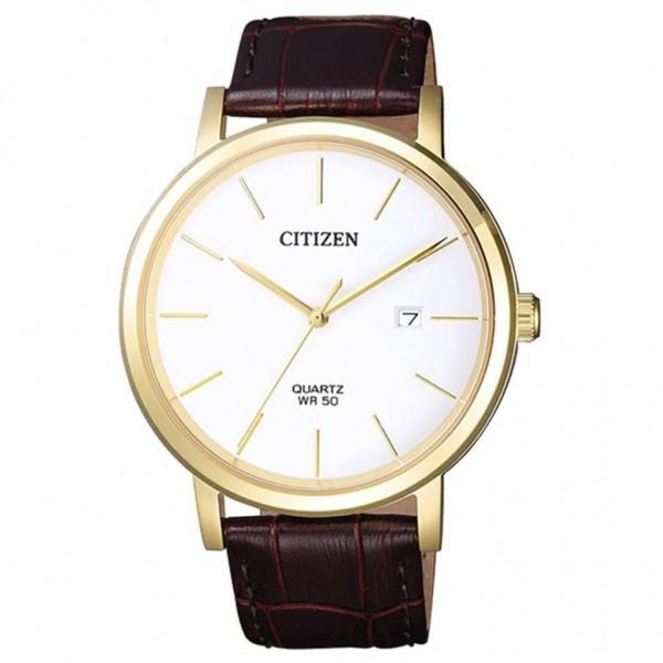 CITIZEN Quartz BI5072-01A Brown Leather Strap