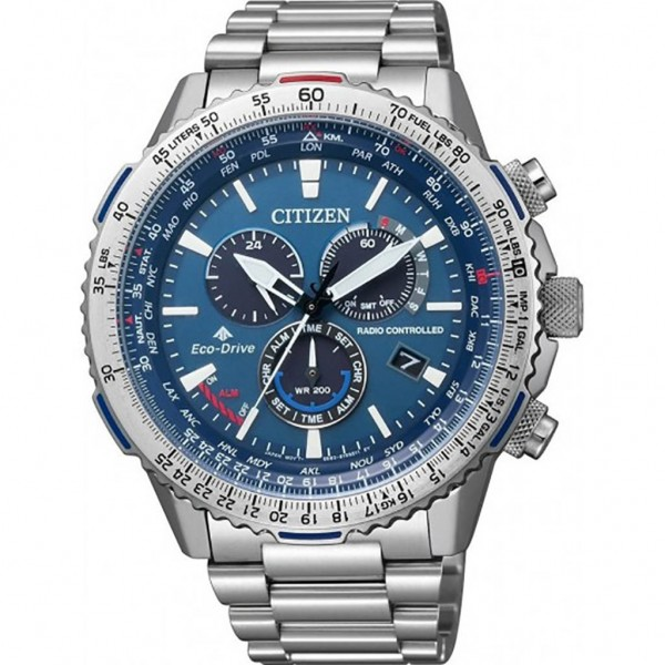 CITIZEN Promaster Sky CB5000-50L Eco-Drive Radio Controlled Chrono Silver Stainless Steel Bracelet