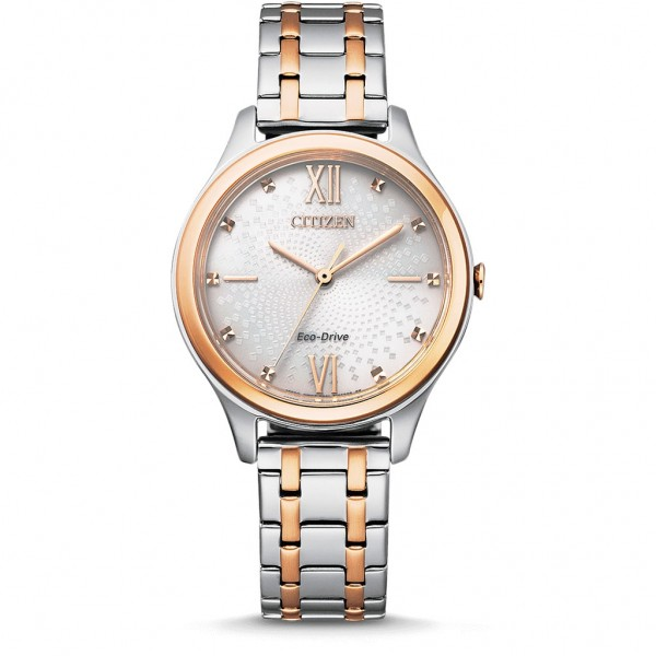 CITIZEN Elegance Ladies EM0506-77A Eco-Drive Crystals Two Tone Stainless Steel Bracelet