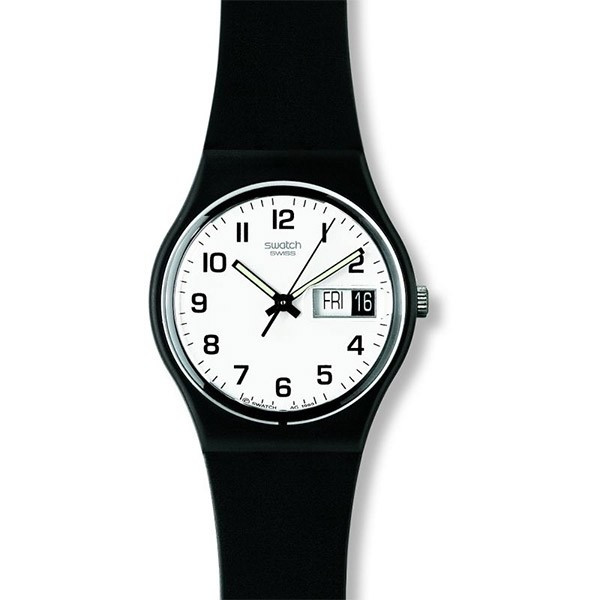 SWATCH Once Again GB743 Black Silicone Strap