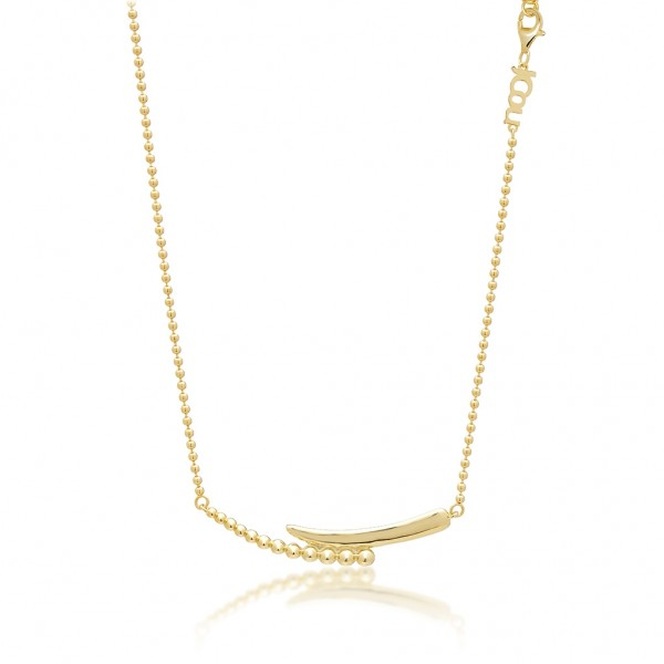 JCOU The Dots Gold Necklace Silver 925° Gold Plated 14K JW900G1-02