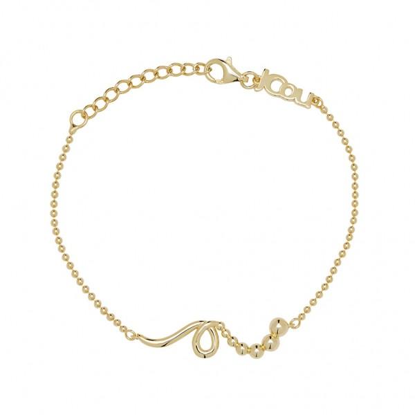 JCOU The Dots Bracelet Silver 925° Gold Plated 14K JW900G2-02