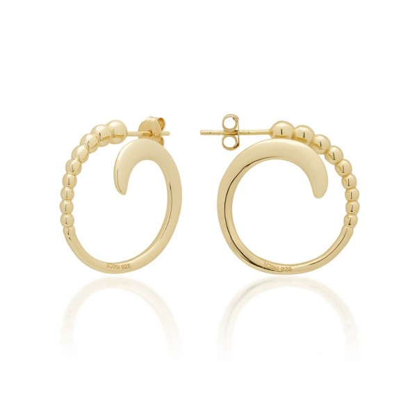 JCOU The Dots Earring Silver 925° Gold Plated 14K JW900G4-05
