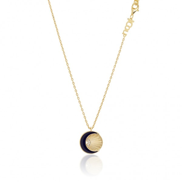 JCOU Sun and Moon Necklace Silver 925° Gold Plated 14K JW901G1-03