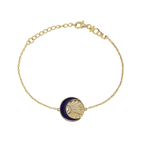 JCOU Sun And Moon Gold Bracelet Silver 925° Gold Plated 14K JW901G2-01