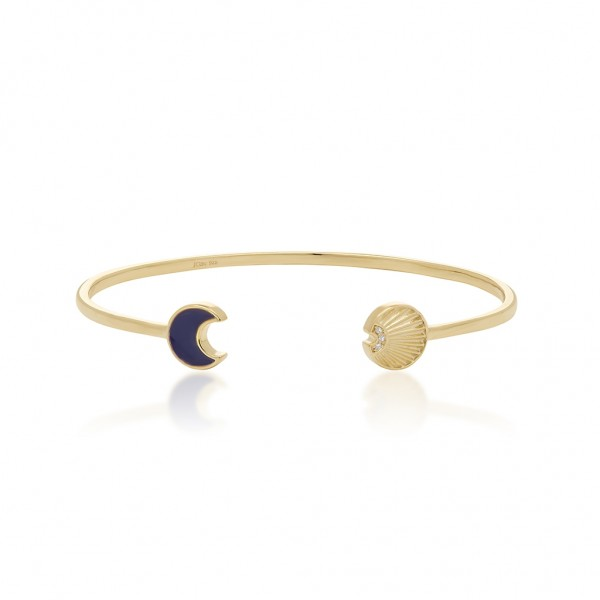 JCOU Sun And Moon Bracelet Silver 925° Gold Plated 14K JW901G3-01