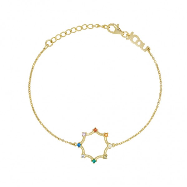 JCOU Rainbow Bracelet Silver 925° Gold Plated 14K JW902G2-01