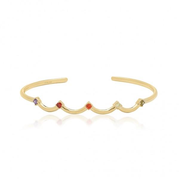 JCOU Rainbow Bracelet Silver 925° Gold Plated 14K JW902G3-01