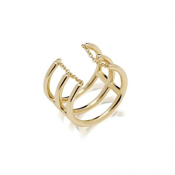 JCOU Chains Ring Silver 925° Gold Plated 14K JW904G0-02