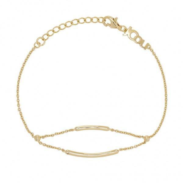 JCOU Chains Bracelet Silver 925° Gold Plated 14K JW904G2-02