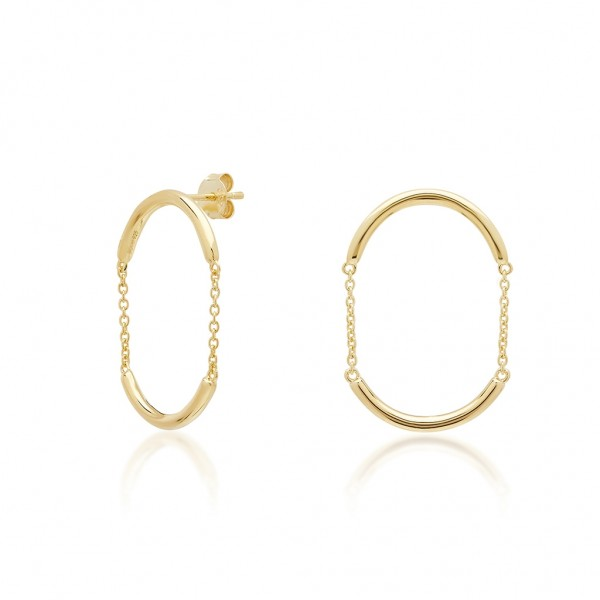 JCOU Chains Earring Silver 925° Gold Plated 14K JW904G4-03