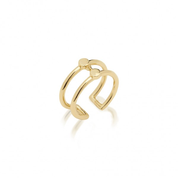 JCOU Coins Ring Silver 925° Gold Plated 14K JW905G0-02