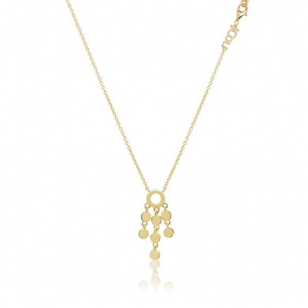 JCOU Coins Necklace Silver 925° Gold Plated 14K JW905G1-01