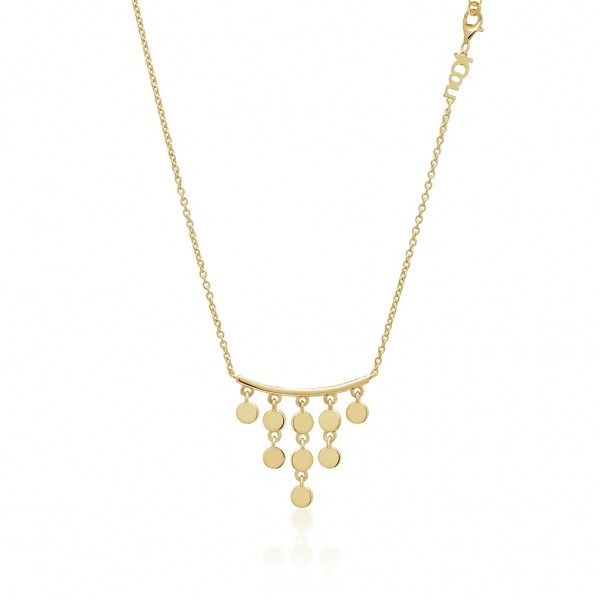 JCOU Coins Necklace Silver 925° Gold Plated 14K JW905G1-02