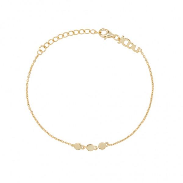 JCOU Coins Bracelet Silver 925° Gold Plated 14K JW905G2-01