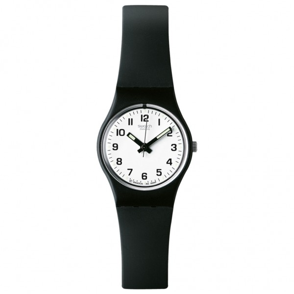 SWATCH Something New LB153 Black Silicone Strap
