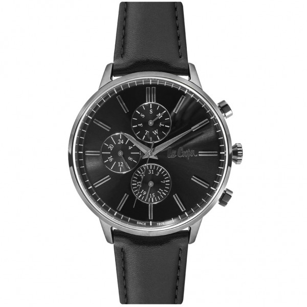 LEE COOPER Gents LC06970.051 Black Leather Strap