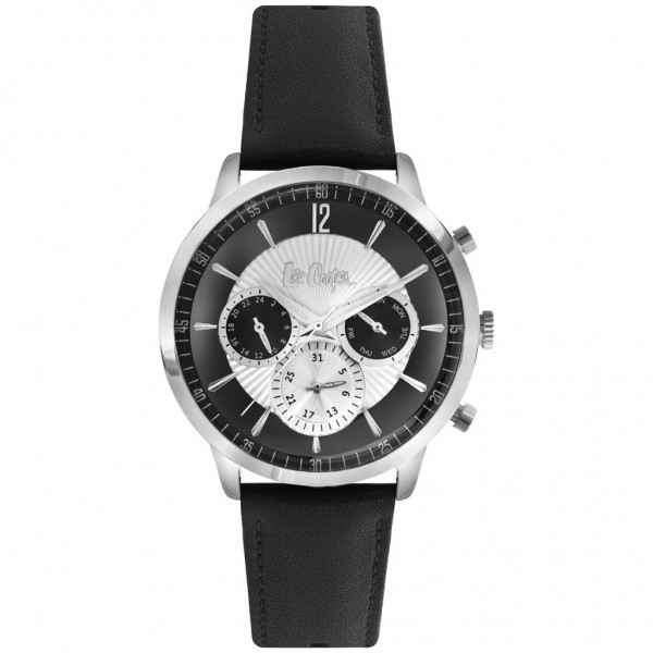 LEE COOPER Gents LC06979.331 Multifunction Black Leather Strap
