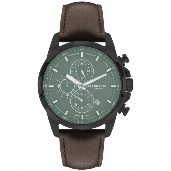 LEE COOPER Gents LC07069.052 Chrono Brown Leather Strap