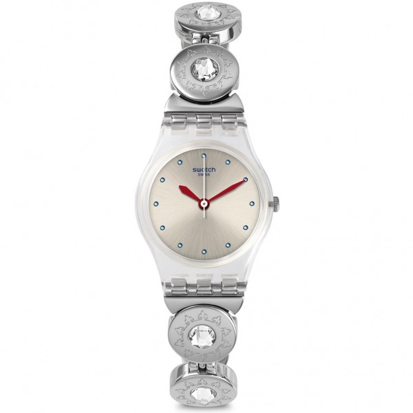 SWATCH L'inattendue LK375G Crystals Silver Stainless Steel Bracelet