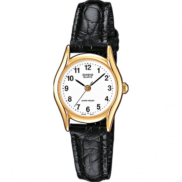 CASIO Collection LTP-1154PQ-7BEF Black Leather Strap