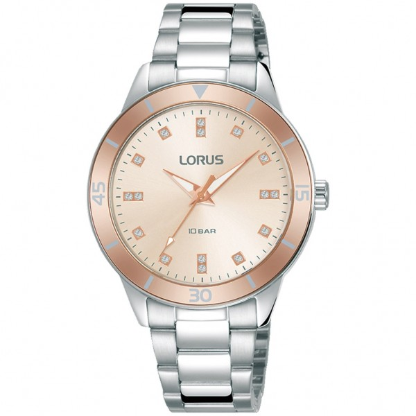 LORUS Classic RG241RX-9 Crystals Silver Stainless Steel Bracelet