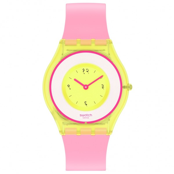 SWATCH India Rose 01 SS08Z101 Bioceramic Case-Pink Silicone Strap