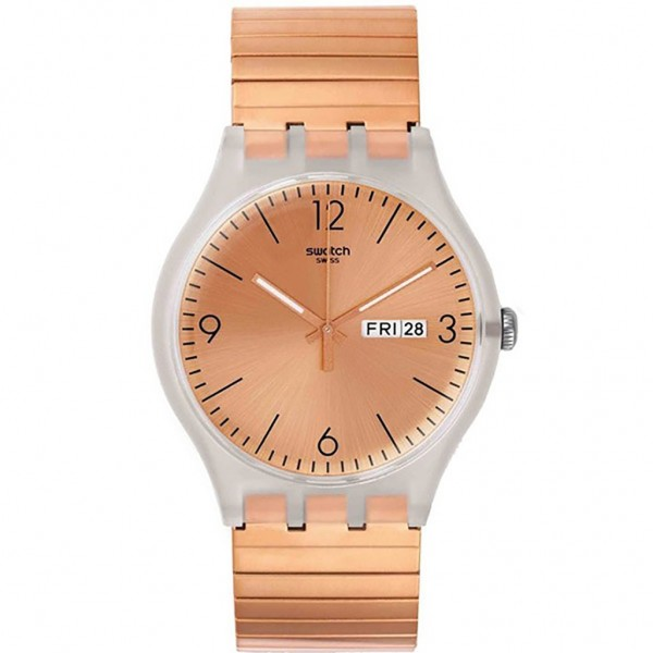 SWATCH Rostfrei SUOK707A Rose Gold Stainless Steel Bracelet Large