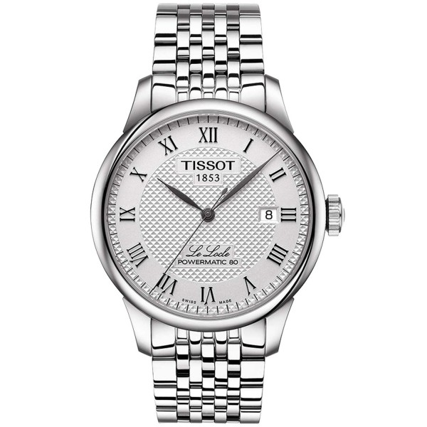 TISSOT T-Classic Le Locle Powermatic 80 Automatic Silver Stainless Steel Bracelet T0064071103300