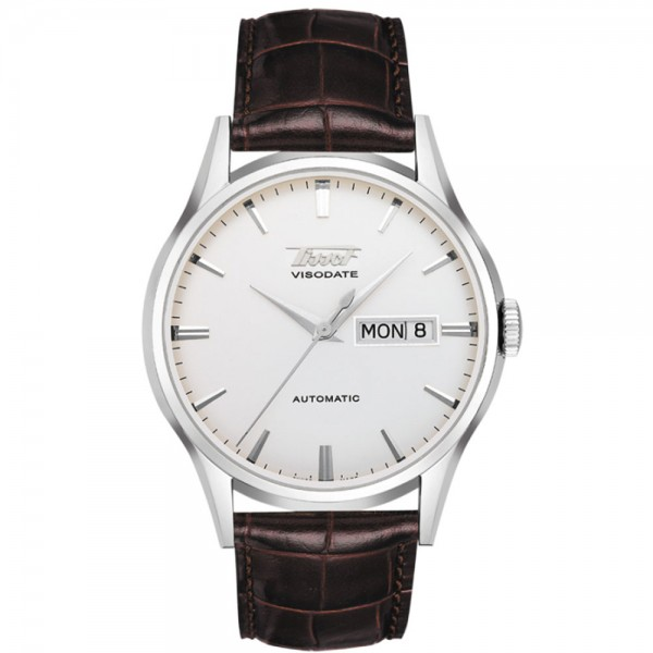 TISSOT Heritage Visodate Automatic Brown Leather Strap T0194301603101