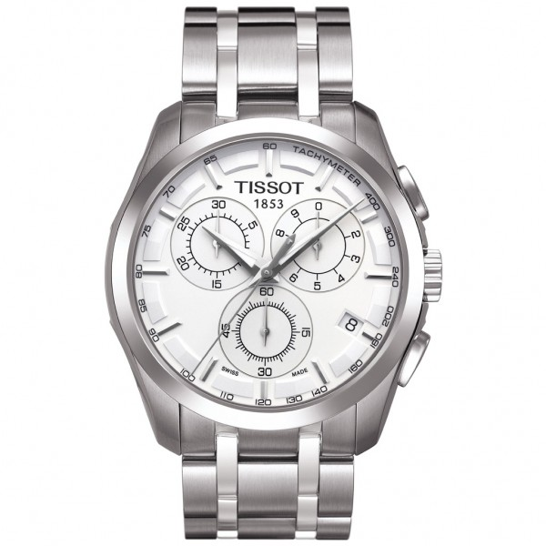 TISSOT T-Classic Couturier Chronograph Silver Stainless Steel Bracelet T0356171103100