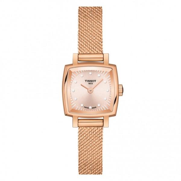 TISSOT T-Lady Lovely Square Rose Gold Stainless Steel Bracelet T0581093345600
