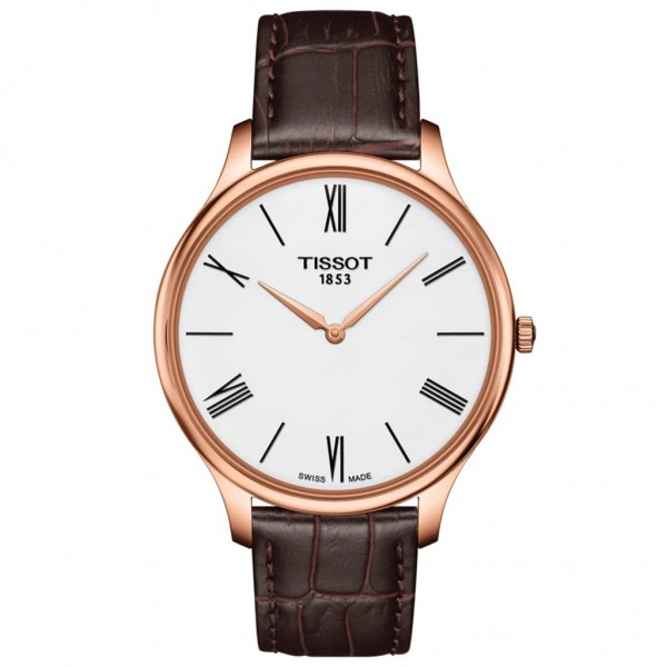 TISSOT T-Classic Tradition 5.5 Brown Leather Strap T0634093601800